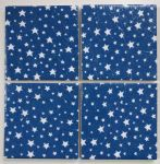 Set of 4 Placemats in Cath Kidston Christmas Stars